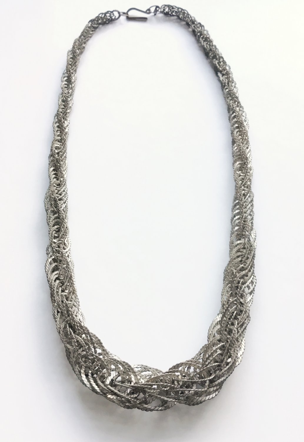 Vintage Mexican Woven Link Graduated Necklace