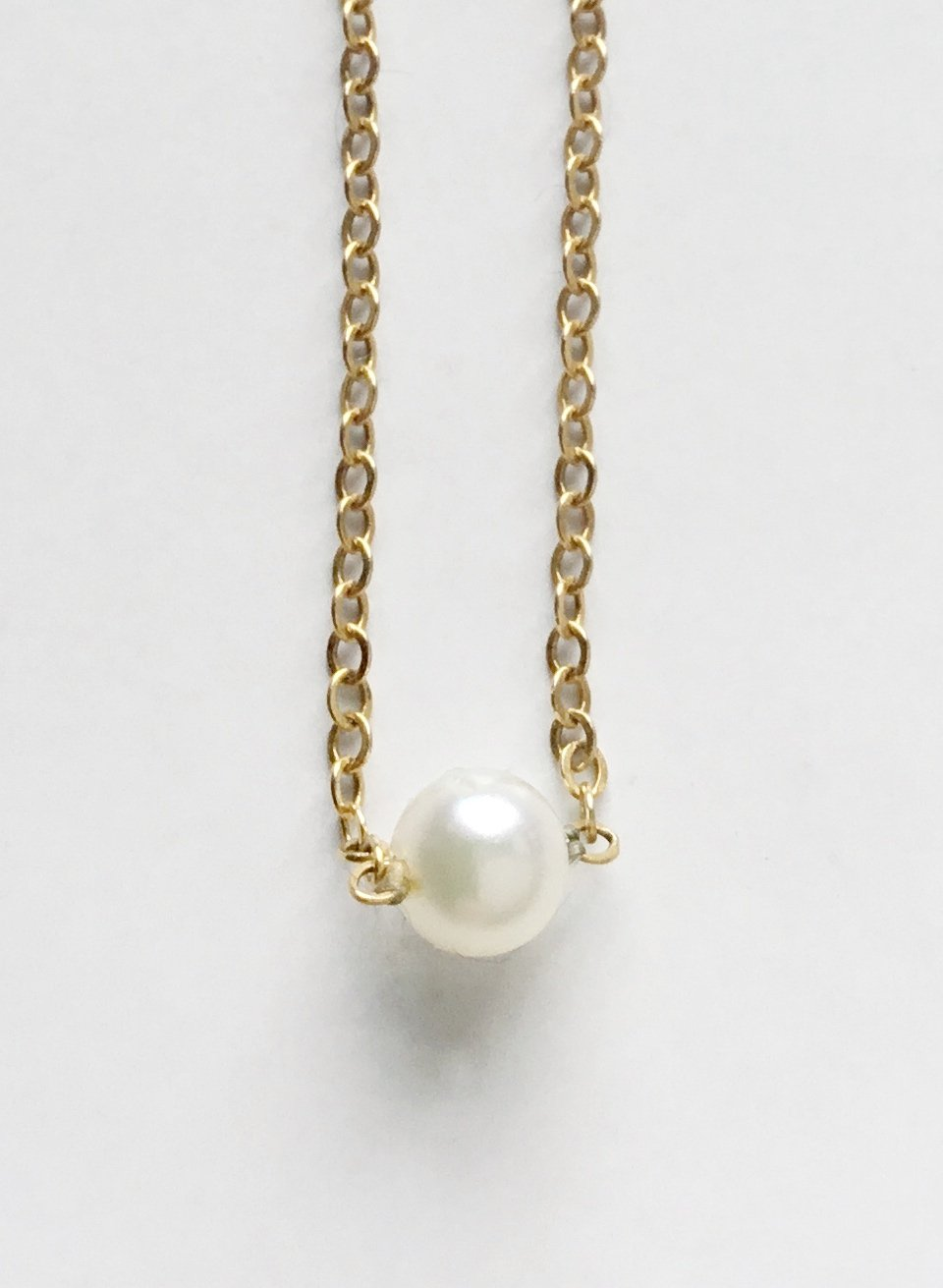 Perfect Girl`s 14K Single Pearl Necklace
