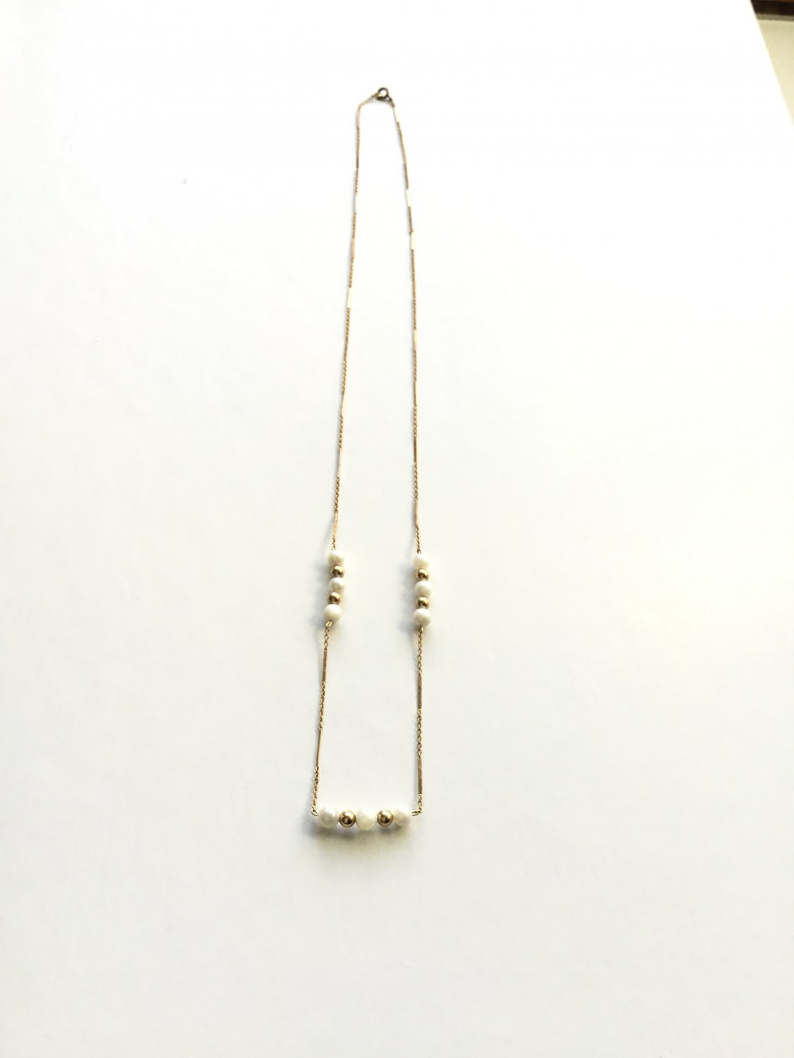 Cultured Pearl & Gold Fill Chain Necklace