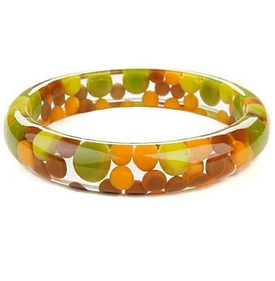 Colorful green bangle