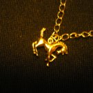 Gold Horse Pendant Necklace