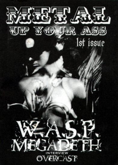 Metal Up Your Ass #1 Greek heavy metal fanzine, Megadeth, WASP