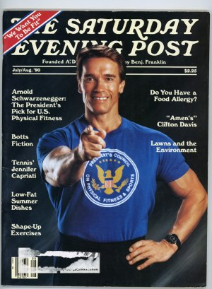 Saturday Evening Post Juy 1990 Arnold Schwarzenegger cover