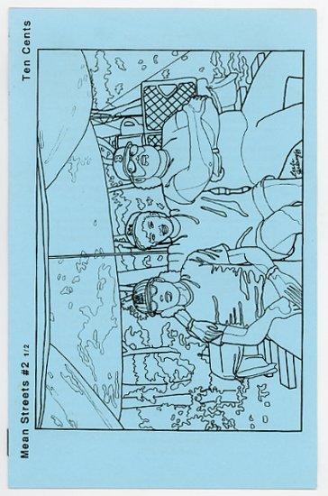 Mean Streets #2 1/2 small press comics zine 1989 Leela Galaxy cover