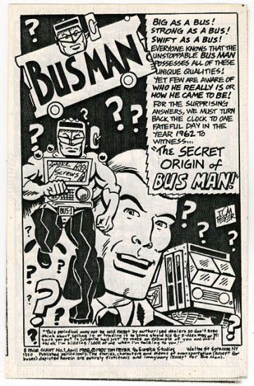 8 Page Giant #1 small press comic, Tom Peyer 1988, RARE
