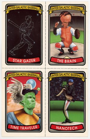 Inter-Galactic Baseball Cards uncut sheet