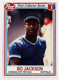 Bo Jackson Post Cereal Card 1990, Kansas City Royals
