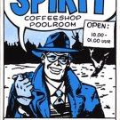 The Spirit Coffeeshop Sticker, Will Eisner, Amsterdam