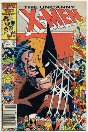 The Uncanny X-Men #211 Wolverine, Mutant Massacre, Near Mint 9.4