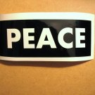 $1.99 PEACE vinyl die cut sticker decal colors laptop car window wall decor sign symbol