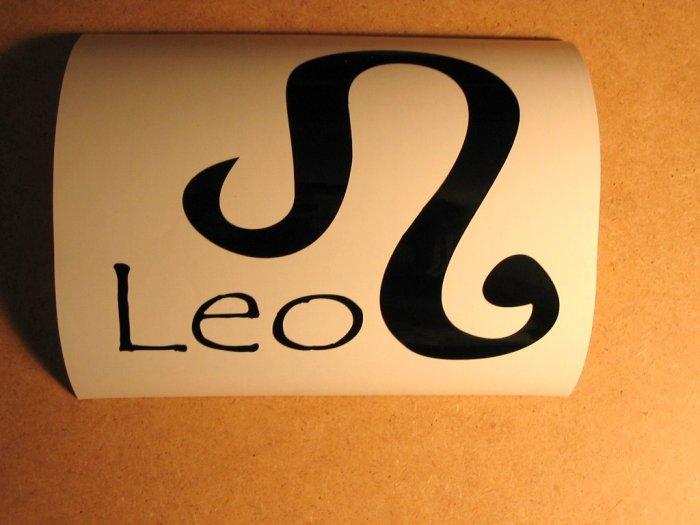 $1.99 LEO astrological sign zodiac vinyl die cut sticker decal colors laptop car window wall decor