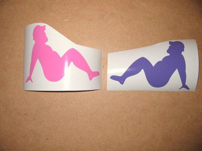 $1.99 sexy MIRROR MUDFLAP MAN vinyl die cut sticker decal colors laptop car window  truck wall decor