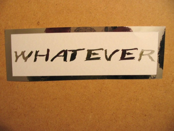 $1.99 WHATEVER vinyl die cut sticker decal colors laptop car window wall decor