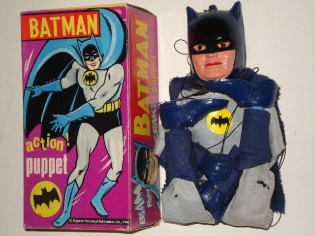 RARE VINTAGE BATMAN CECIL COLEMAN PUPPET TOY