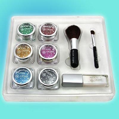 Glitter Tattoo kit 6 color/brushes/glue/stencil temporary tattoos