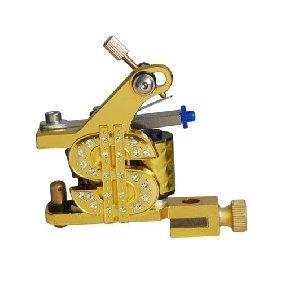 2 pcs  Tattoo Machine Gun for Liner Shader Dollar Symbol with Crystals Golden