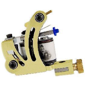 2 pcs  Golden Tattoo Machine Gun for Shader and Liner 10 Wrap Coil WS-M016