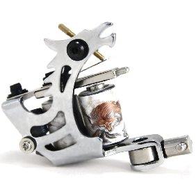5 pcs Classical Tattoo Machine/Gun for Shader & Liner 10 Wrap Coils WS-MT030B