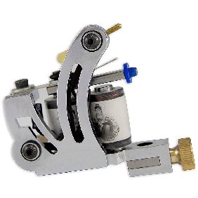 5 pcs Silver Tattoo Machine Gun for Shader and Liner 10 Wrap Coil WS-M011