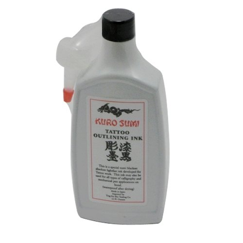 two  bottle of Kuro Sumi Tattoo Outlining Black Ink,WS-I101