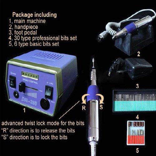 3 pcs 288 - Electric Nail Manicure Pedicure Drill File Tool Kit 12V