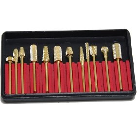 36 pcs Golden Electric Nail File Drill bits