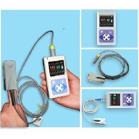 3 pcs CMS 60D Handheld Pulse Oximeter Fingertip Oxymètre Color TFT Display