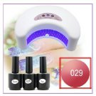 12W White LED NAIL UV LAMP With 3 Bottles of 15 Ml UV TOPCOAT Nail Polish Free Shipping