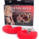 Fur Handcuffs- Red