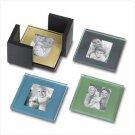 Glass Photo Coaster Set