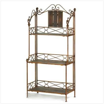 #12517 Rustic Baker'S Rack Shelf