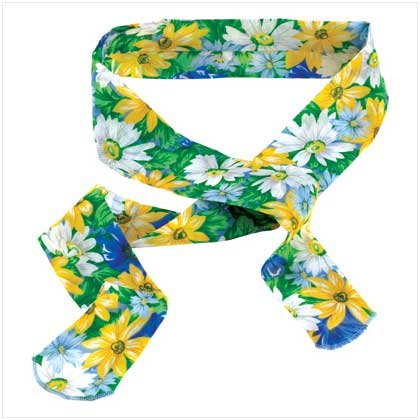 #12718 Floral Body-Cooling Neck Wrap