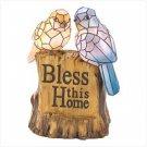 #12534 Blessing Birds Solar Statue