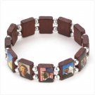 #12470 Barack Obama Wood Bead Bracelet