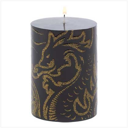 #39774 Dragoncrest Round Candle