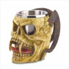 #38009 Skull Tankard with Steel Cup