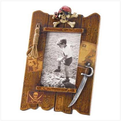 #38299 Wood Pirate Photo Frame