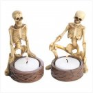 #39828 Spooky Skeleton Candleholders