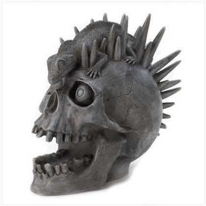 #39834 Punk-Rock Skull Figurine