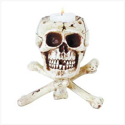#31079 Skull Tripod Candleholder