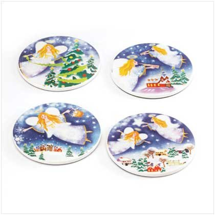 #37706 Christmas Angel Coasters