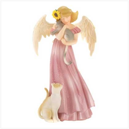 #12390 Blessing Angel With Kitties