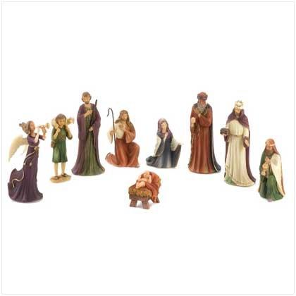 #12403 9-piece Nativity Set