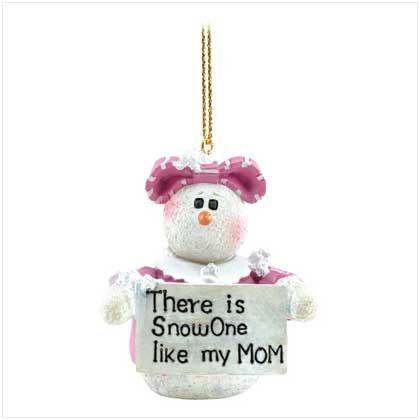 #12092 Snowberry Cuties Mom Ornament