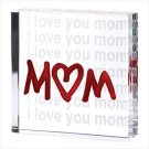 12651 I Love You Mom Glass Cube