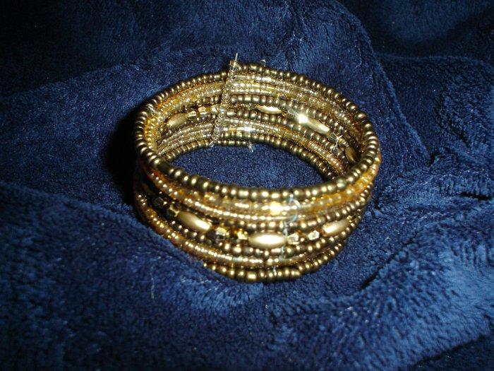 Earth toned beaded wire bracelet