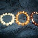Fashion faux pearl w/crystal detailing bracelets
