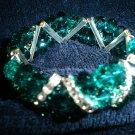 Emerald crystal beaded bracelet