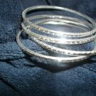 Silver loose bangle bracelets