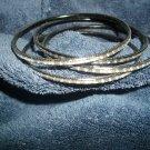 Black loose bangle bracelets